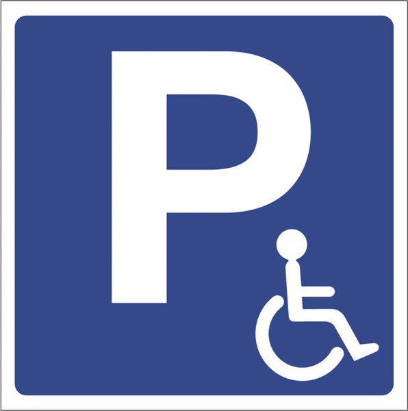 Parking accessible personne handicapée